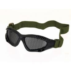 Protective goggles with steel net